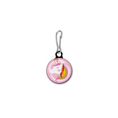 Button para Zíper Unicórnio Rosa