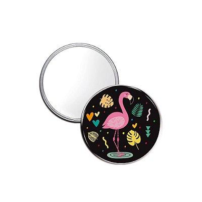 Espelho Pocket Flamingos Celebre a Vida