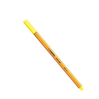 Caneta Stabilo Ponta Fina Point 88 Amarelo Limão