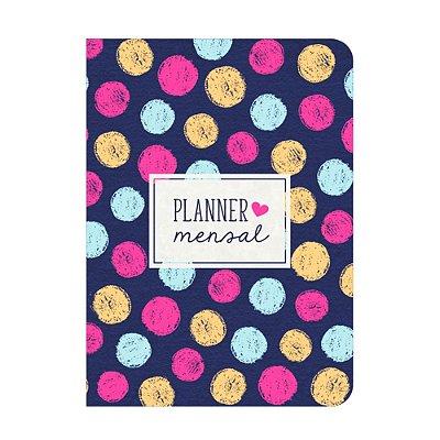 Planner Mensal Poá Colorido