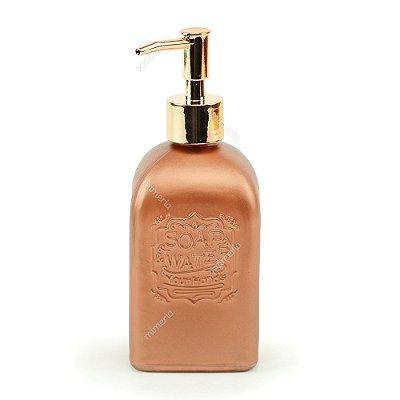 Porta Sabonete Líquido de Vidro Soap & Water Cobre