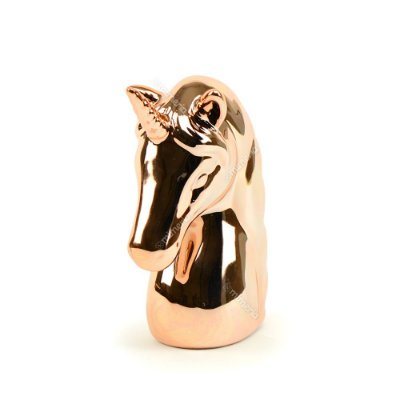 Cofre Unicórnio em Cerâmica Rose Gold