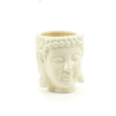 Cachepô em Cerâmica Buda Branco