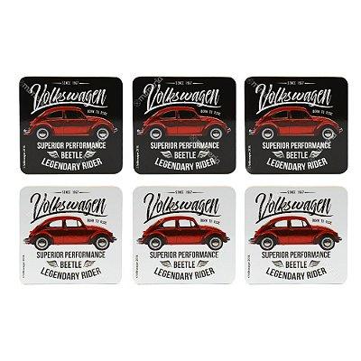 Conjunto 6 Porta Copos Fusca Volkswagen