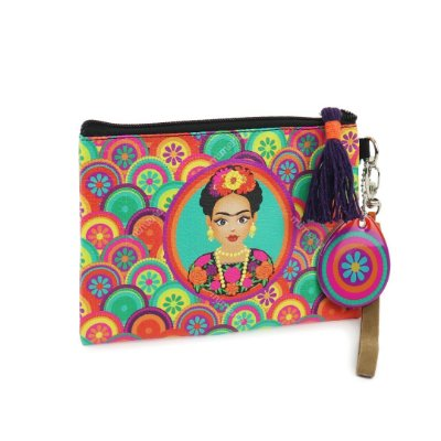 Necessaire Flat Frida Mandalas Coloridas