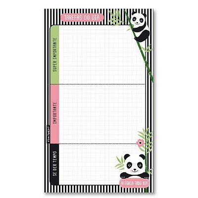 Bloco de Tarefas Diário Panda