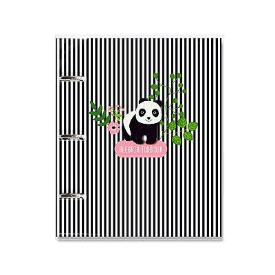 Caderno Argolado Fichário Panda
