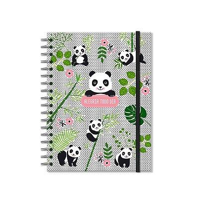 Caderno Colegial Panda 96 Folhas