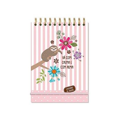 Caderno de Ideias Bicho-Preguiça