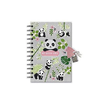 Diário com Chave Panda