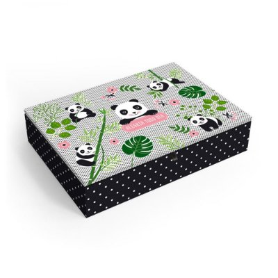 Porta-Joias Decorado Panda Médio