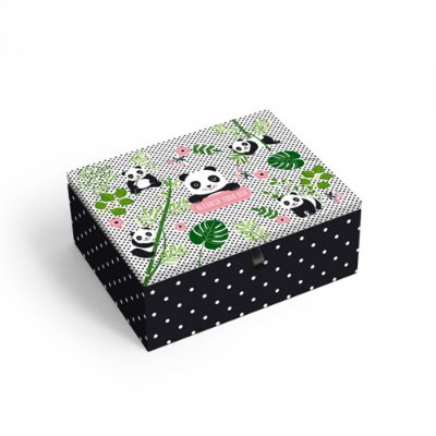 Porta-Joias Decorado Panda Pequeno
