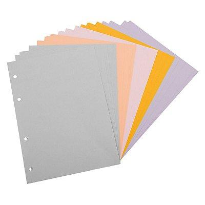 Refil Planner Fichário Médio Folhas Coloridas Maxi