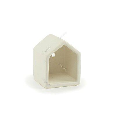 Castiçal de Cerâmica Little House Branca