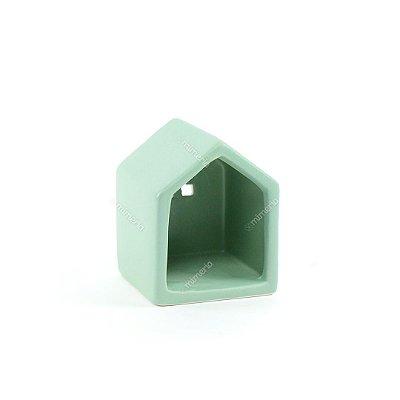 Castiçal de Cerâmica Little House Verde