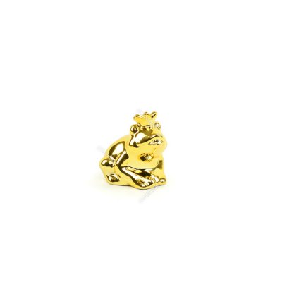 Sapo Decorativo de Cerâmica Dourado