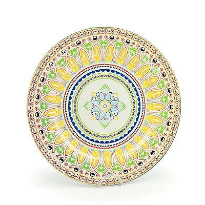 Prato Sousplast de Plástico Mandala Colorida