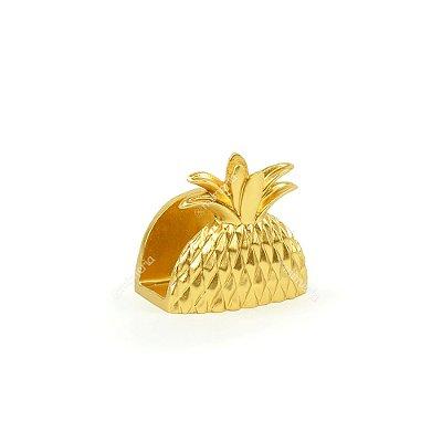 Porta Guardanapo em Resina Abacaxi Dourado