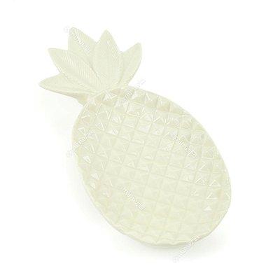 Petisqueira de Cerâmica Abacaxi Branco Grande