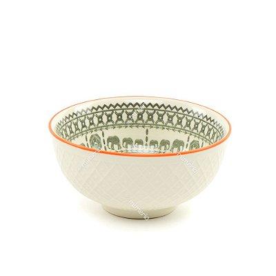 Bowl de Cerâmica Elefante Cinza Pequeno