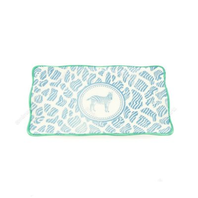 Petisqueira em Cerâmica Zebra Azul