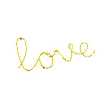 Letreiro Decorativo em Metal Love Dourado