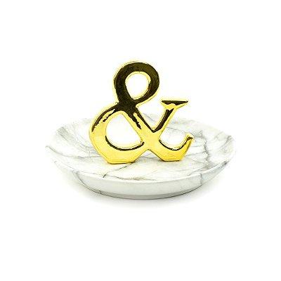 Porta-Joias de Cerâmica & Dourado