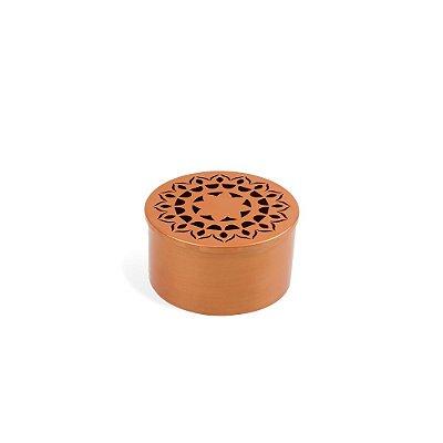Caixa Organizadora em Aço Mandala Pequena