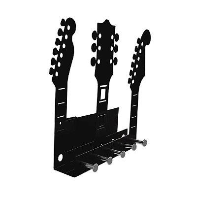 Porta-Chaves em Aço Guitarras