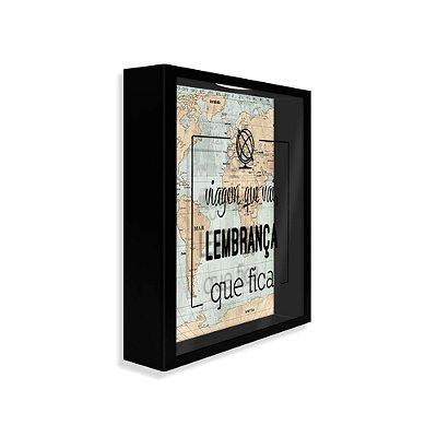 Quadro de Recordações Mapa Mundi Vintage