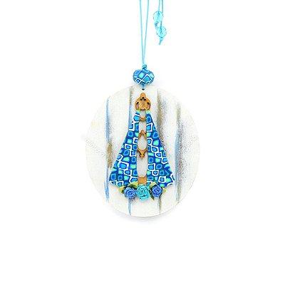 Enfeite Nossa Senhora Azul Médio
