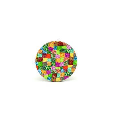 Porta Copo Base MDF Colorido Abstrato
