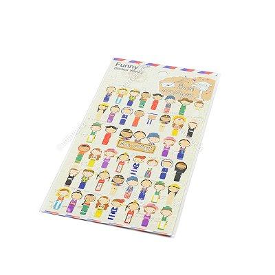 Cartela de Adesivos Stickers Bon Voyage