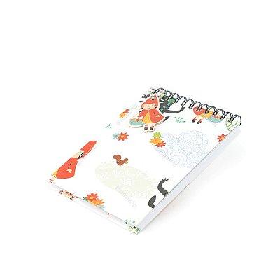 Caderno de Notas Wire-O Chapeuzinho Vermelho