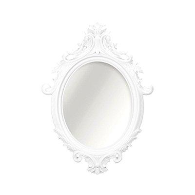 Espelho Vintage Oval Rococó Branco 38x55