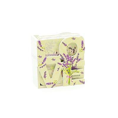 Conjunto 6 Porta Copos com Suporte Love Flores