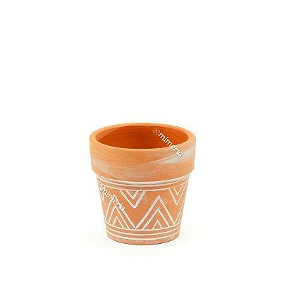 Mini Vaso em Cerâmica Rústico Maya Barro