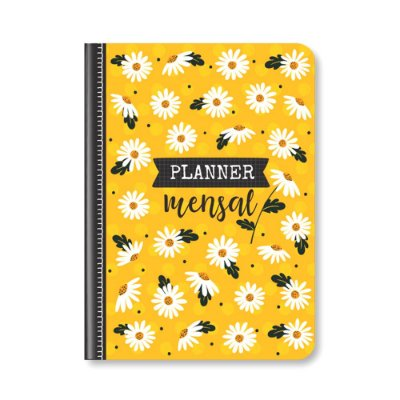 Planner Mensal Margaridas Amarelo