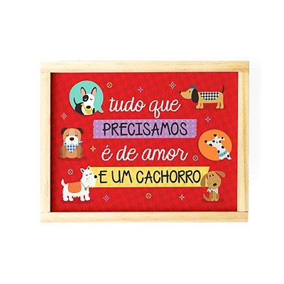Caixa Organizadora Média Cachorrinhos Vermelha
