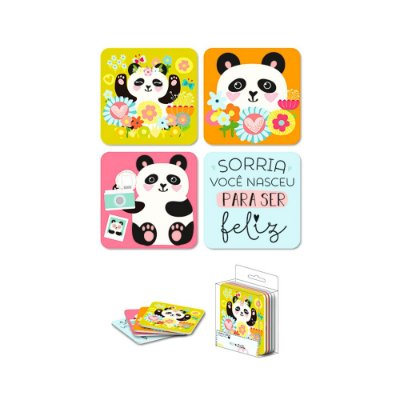 Porta Copos Magnéticos Panda