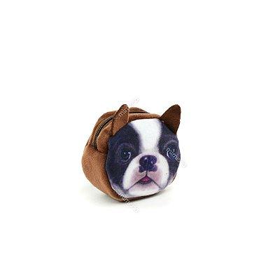 Porta Moedas Estampado Cachorro Bulldog