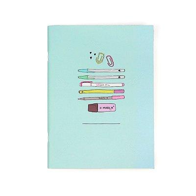Caderno Bullet Journal Papelouca Verde-água