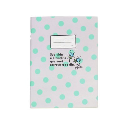 Caderno Bullet Journal Sua Vida Cinza Poá