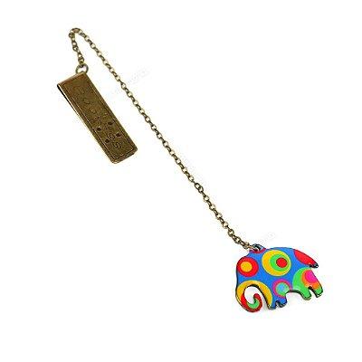 Marcador de Página Metal Color Elefante Colorido