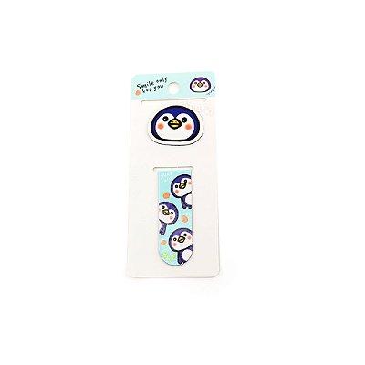 Kit Marcador de Páginas Magnético Pinguim Azul