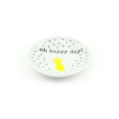 Pratinho Decorativo em Cerâmica Oh Happy Day