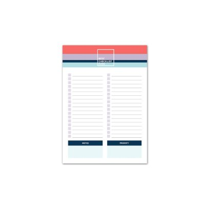 Bloco de Mesa Checklist Allegro Pequeno
