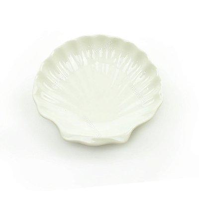 Mini Prato Decorativo em Cerâmica Concha Média