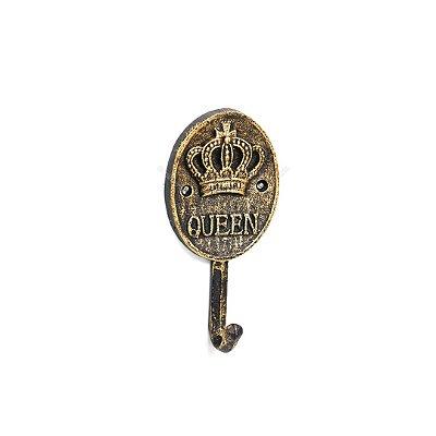 Gancho de Ferro Cabideiro Queen Dourado