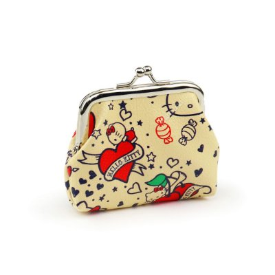 Porta Moedas Hello Kitty Bege